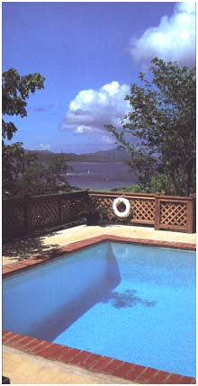 [A Photo of Cruz Bay Villas Pool and ocean view]