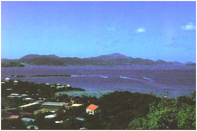 [View of Cruz Bay and St. Thomas]